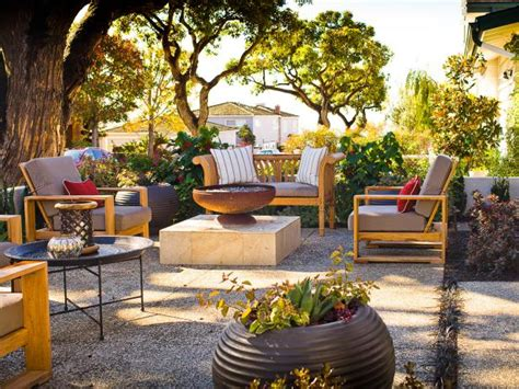 Patio with Abalone Shell Pavers | HGTV