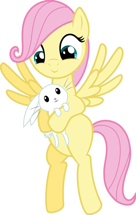 Filly Fluttershy with Angel by MacTavish1996 by