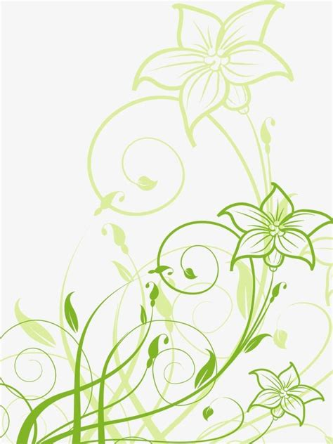 Green Flower Pattern, Vector, Ai, Flowers PNG and Vector