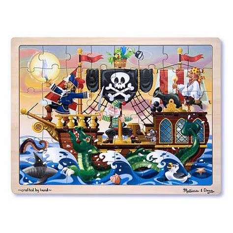 Melissa & Doug Puzzles - Pirate Adventure Jigsaw Puzzle at