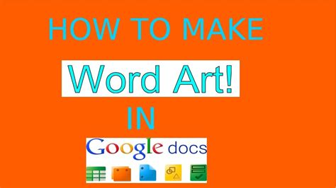 How to add Word Art to Google Docs - YouTube