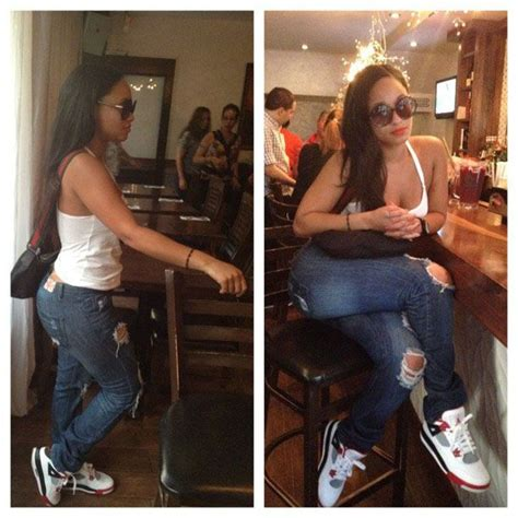 Tahiry Jose wearing Air Jordan IV 4 Fire Red | Celebrity