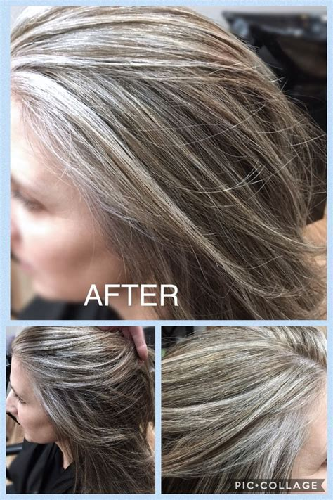 After blended gray hilites! Beautiful!! I used #Wella T18