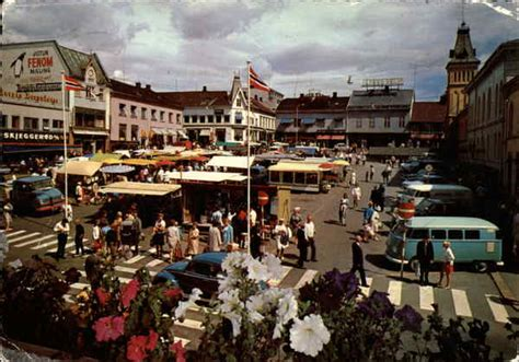 Town Square and Market Tonsberg, Norway
