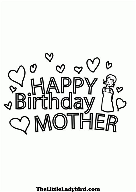 Happy Birthday Mom Printable Coloring Pages - Coloring Home