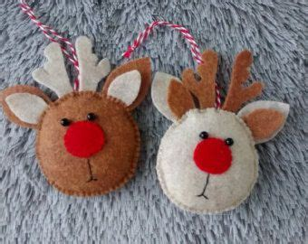 Rudolph the red nosed reindeer felt Christmas ornament by