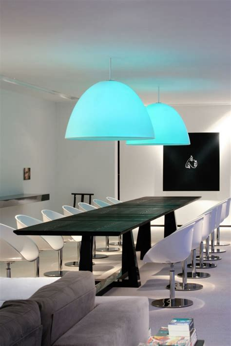 Dining Room Lighting Concept Ideas Over High Gloss