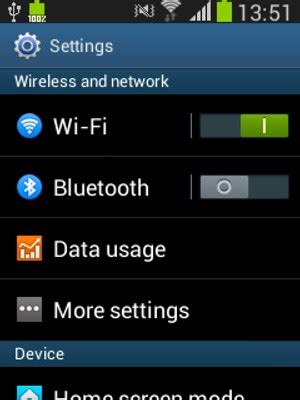 Set up Internet - Samsung Galaxy Fame - Android 4