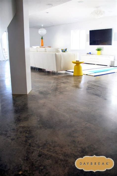Love the concrete floors in the basement! How to get a